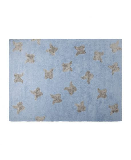 Alfombra lavable lorena canals wings azul ro infantil - Alfombras lavables lorena canals ...