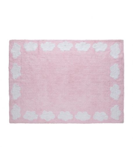 Alfombra lavable lorena canals cenefa nubes rosa ro infantil - Alfombras lavables lorena canals ...