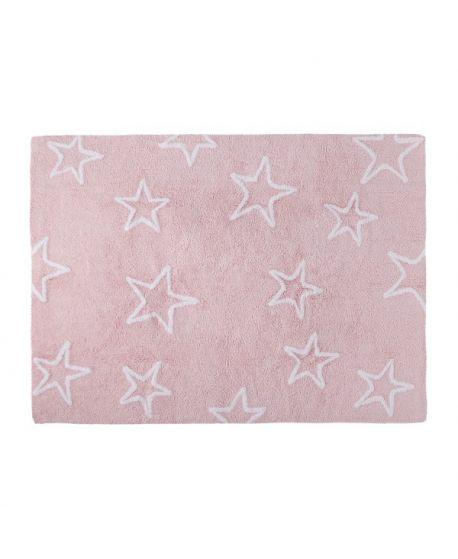 Alfombra lavable lorena canals estrellas rosa ro infantil - Alfombras lavables lorena canals ...