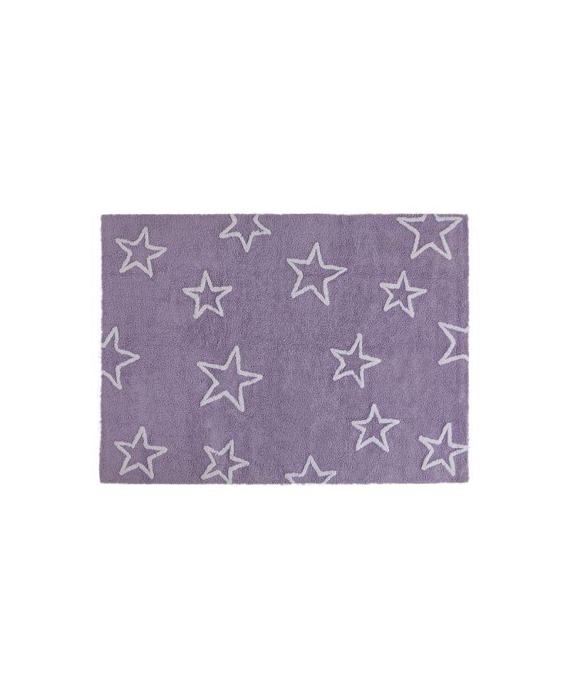 Alfombra lavable lorena canals estrellas malva ro infantil - Alfombra estrellas ikea ...