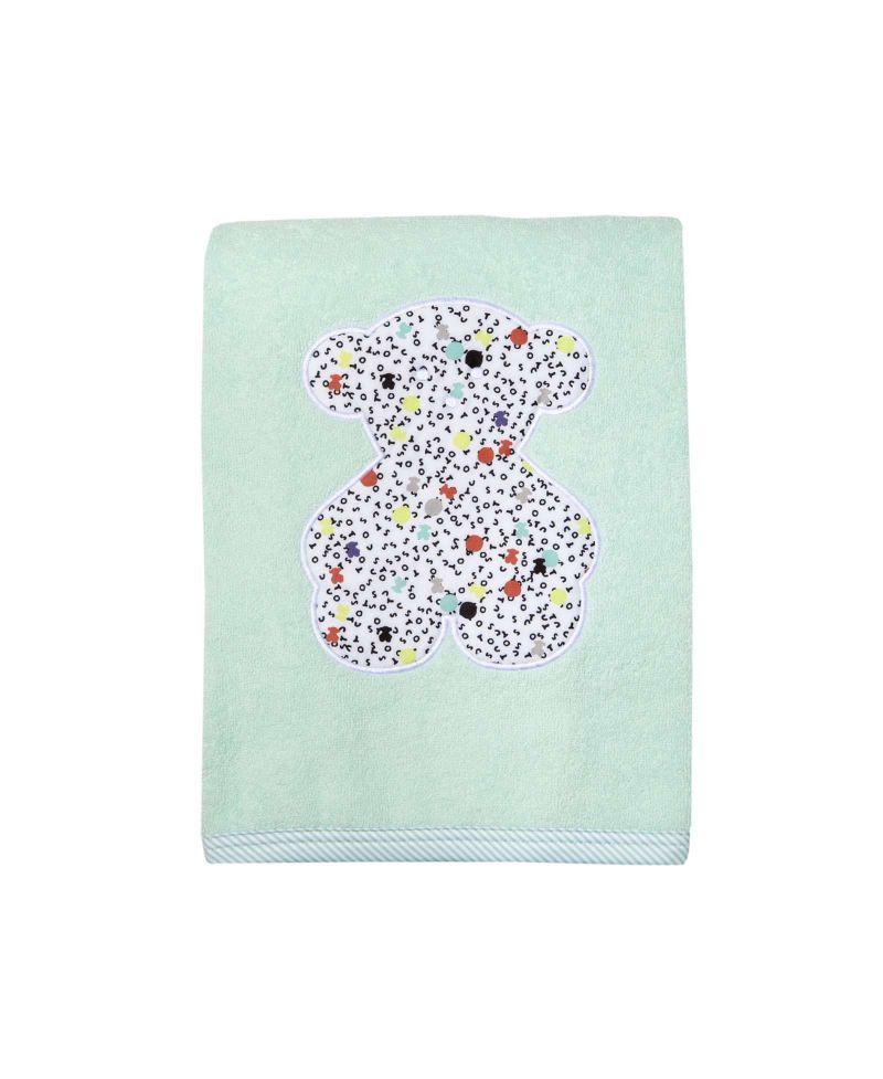 Toalla Baño Infantil: > Bebé > Bebe Niña > Baño > Toalla Baby Tous Verde Oso Bordado
