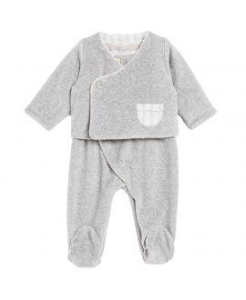 Pijama Bebe Gris Dos Piezas Tartine et Chocolat