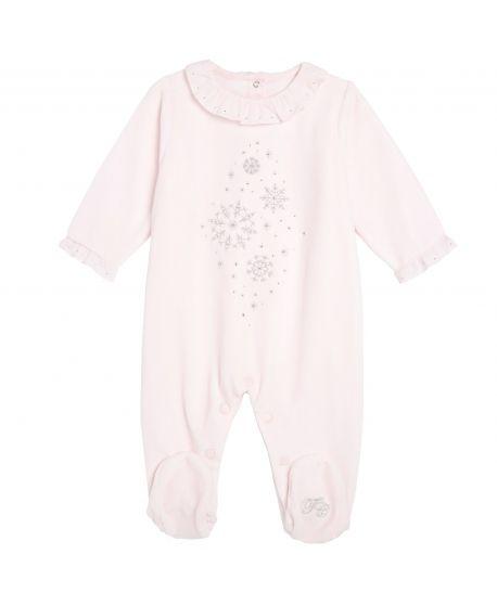 Pijama Bebe Niña Rosa Copos Strass Tartine et Chocolat