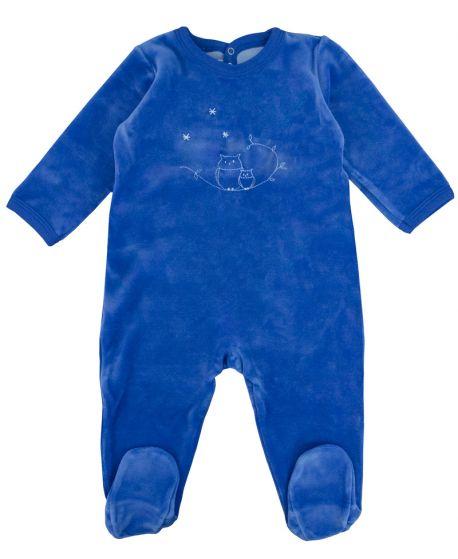 Pijama Bebe Petit Bateau Azul Búhos