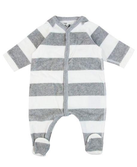 Pijama Bebe Petit Bateau Gris Marino Corchetes