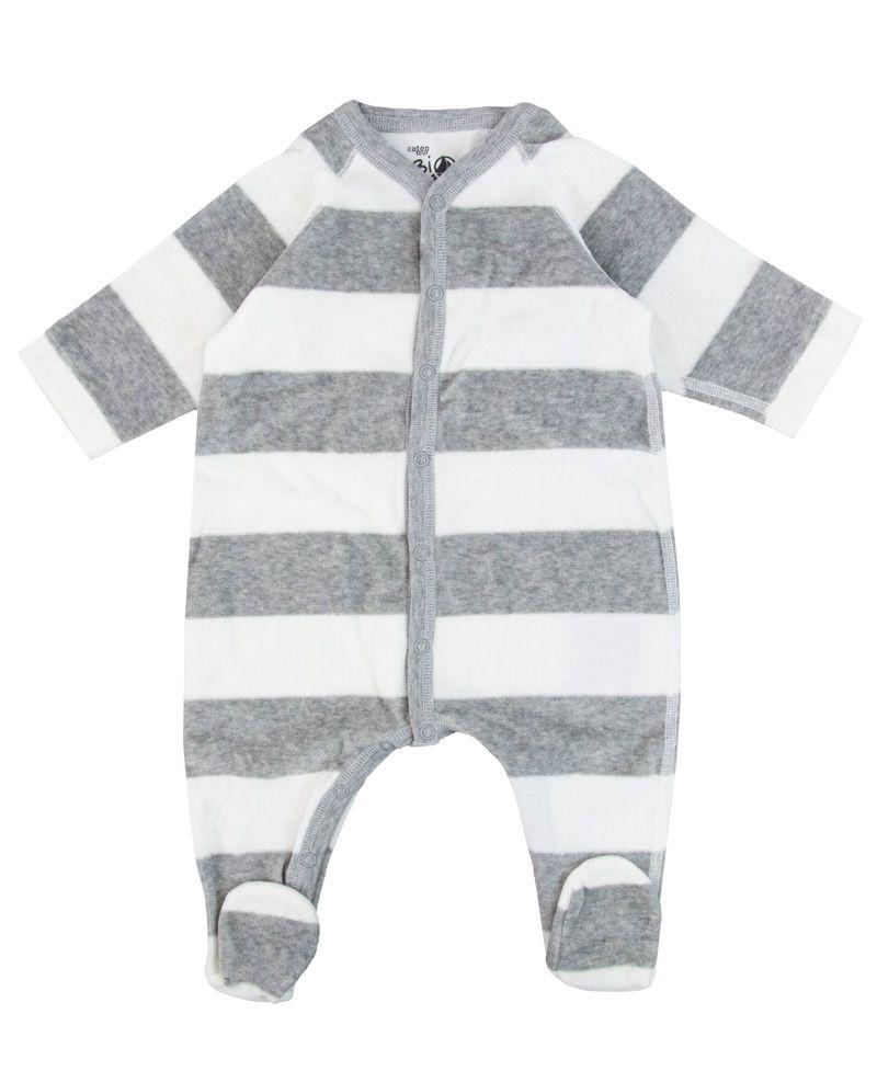 4df178c9b Pijama Bebe Petit Bateau Rayas Gris Corchetes - Ro Infantil