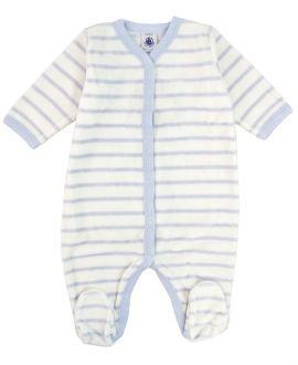 Pijama Bebe Petit Bateau Azul Rayas Corchetes