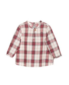 Camisa Viella Rojo Nanos Bebe Niño