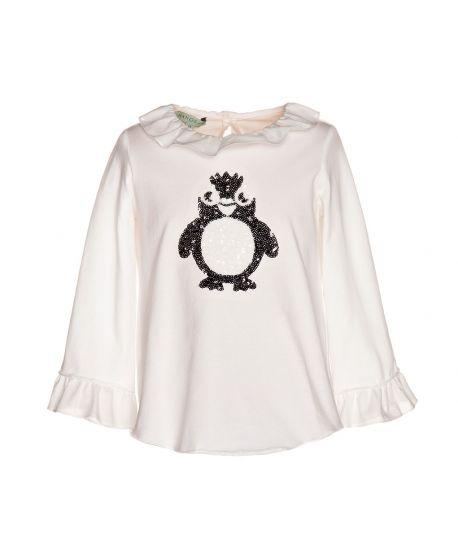 Camiseta Punto Crudo Nanos Niña Pingüino