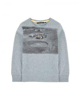 Camiseta Niño Gris Aston Martin Carrera