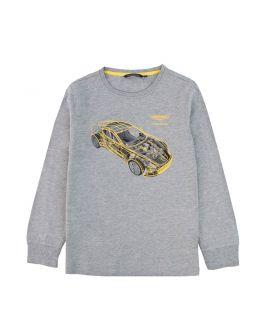 Camiseta Niño Coche Amarillo Aston Martin