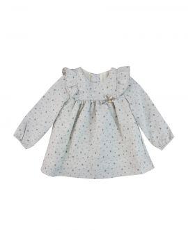 Vestido Bebe Niña Baby Tous Gris Ositos