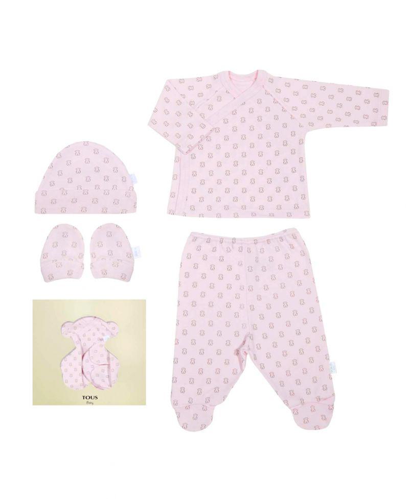 Regalos Para Bebes Recien Nacidos Tous.Kit Regalo Canastilla Baby Tous Milosos Rosa Ro Infantil