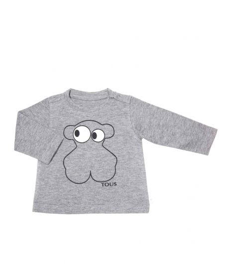 Camiseta Bebe Niño Baby Tous Gris Ojos