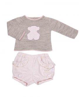 Conjunto Dos Piezas Bebe Niña Baby Tous Rosa