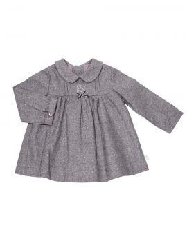 Vestido Bebe Niña Baby Tous Gris