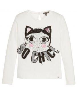 Camiseta Niña Microbe Gato So Chic