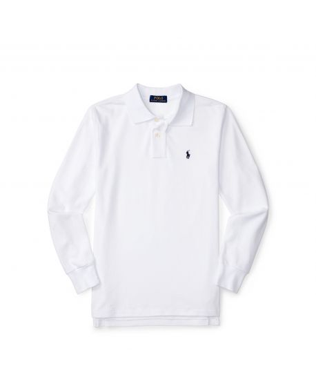 Polo Niño Ralph Lauren Custom Blanco