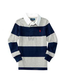 Polo Niño Ralph Lauren Stripe Rugby Gris