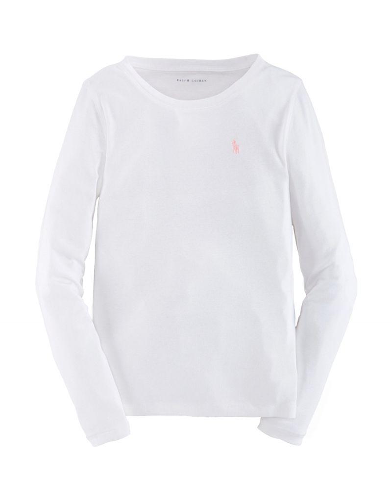 Camiseta Niña Polo Ralph Lauren Básica Blanca - Ro Infantil ec9197b5d8d9e