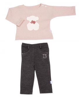 Conjunto Niña Baby Tous Algodón Rosa
