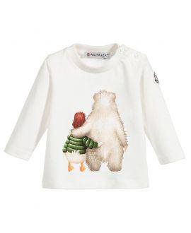 Camiseta Bebe Niño Moncler Crudo Abrazo