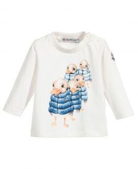 Camiseta Bebe Niño Moncler Crudo Patos