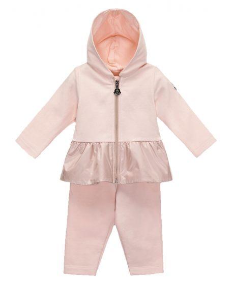 Conjuno Bebe Niña Moncler Algodón Rosa