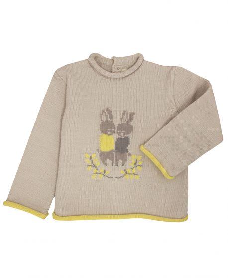 Jersey Bebe Niño BONNET A POMPON Conejos