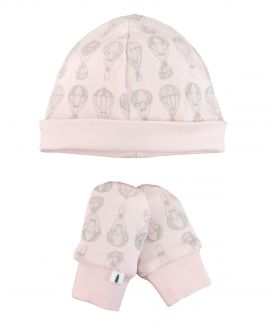 Conjunto Bebe Gorro y Manoplas Message In The Bottle Rosa