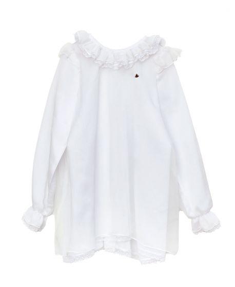 Camisa Niña CASILDA Y JIMENA Valencien Blanca