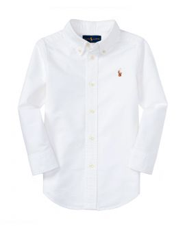 Camisa Niño POLO RALPH LAUREN Custom Fit Blanca