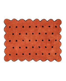 Alfombra Lavable Lorena Canals Biscuit Terracota - Negro