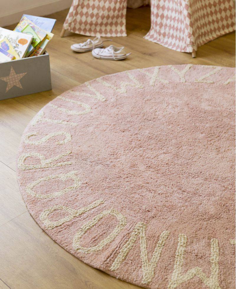 Alfombra lavable lorena canals round abc vintage nude ro - Alfombra lorena canals ...