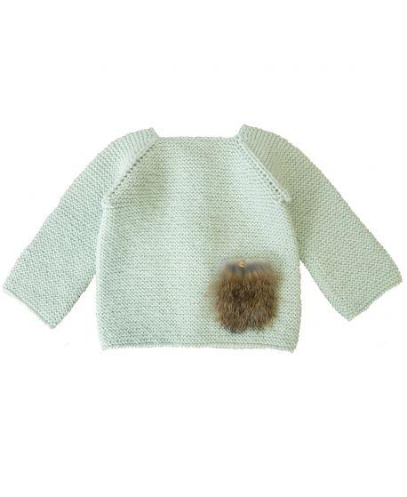 Jersey Bebé CASILDA Y JIMENA Verde Agua Alpaca