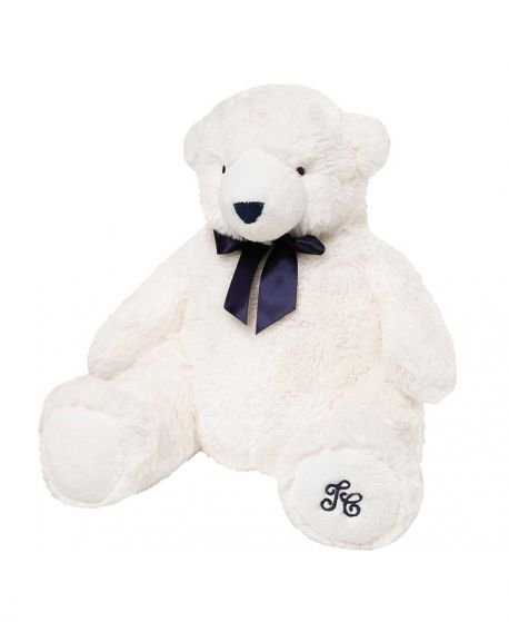 Peluche TARTINE ET CHOCOLAT Jean, l'ours blanc (30 cm)