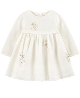 Vestido Bebe Niña Perla Detalles Oro Tartine et Chocolat