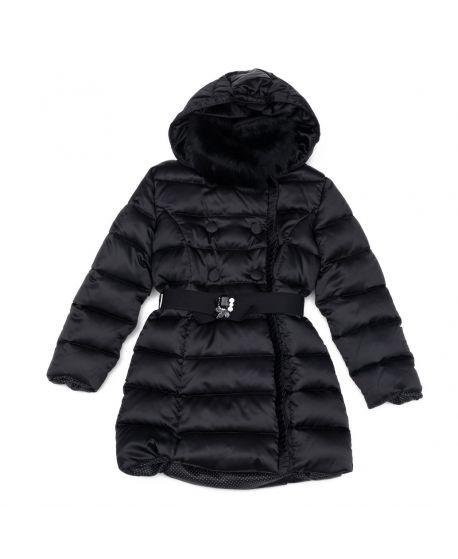 Abrigo largo con capucha y pelo Miss Grant