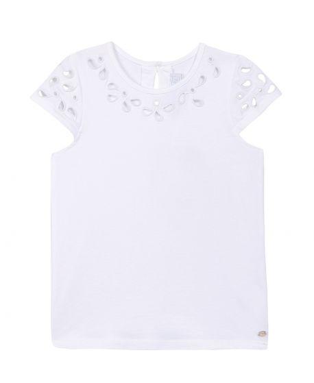 Camiseta Niña TARTINE ET CHOCOLAT Blanca