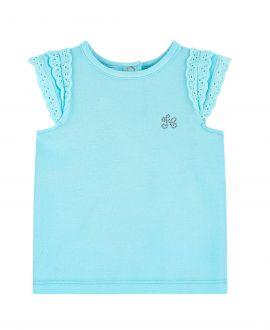 Camiseta Bebe Niña TARTINE ET CHOCOLATE Blanca Logo Strass