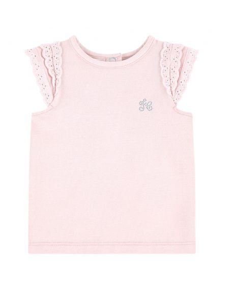 Camiseta Bebe Niña TARTINE ET CHOCOLATE Rosa Logo Strass