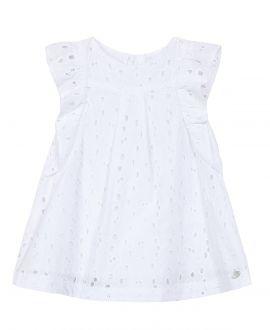 Vestido Bebe Niña TARTINE ET CHOCOLAT Blanco Encaje Bordado