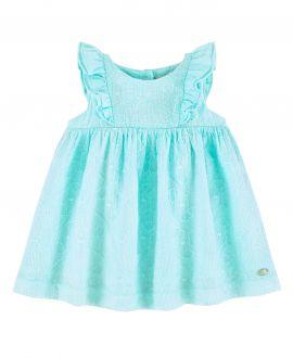 Vestido Bebe Niña TARTINE ET CHOCOLAT Verde Agua Gasa Bordada