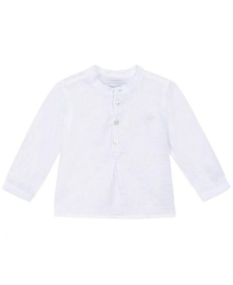 Camisa Niño TARTINE ET CHOCOLAT Blanca Cuello Mao