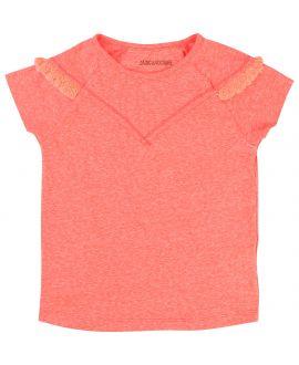 Camiseta Niña ZADIG&VOLTAIRE Coral Flecos Hombros