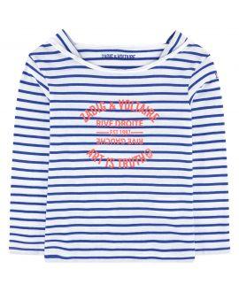 Camiseta Niña ZADIG&VOLTAIRE Rayas Azul y Blanca