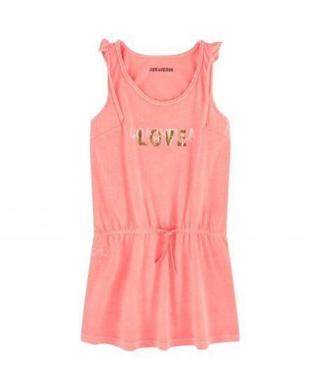 Vestido Niña ZADIG&VOLTAIRE Coral Love