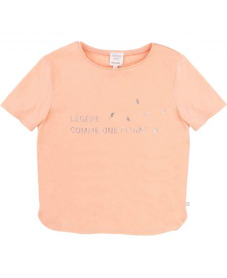 Camiseta Niña CARREMENT BEAU Albaricoque Pluma