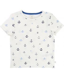 Camiseta Niño CARREMENT BEAU Blanca Anclas
