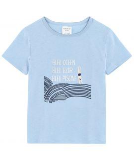 Camiseta Niño CARREMENT BEAU Azul Agua